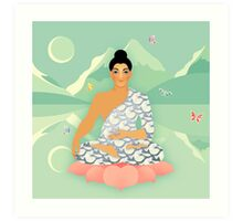 Sacred World: Blue Yogi Art Print