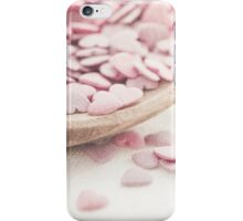 Romantic heart shaped sprinkles iPhone Case/Skin