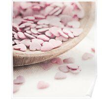 Romantic heart shaped sprinkles Poster