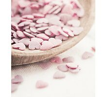 Romantic heart shaped sprinkles Photographic Print