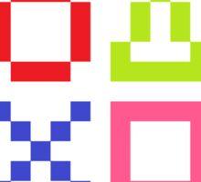 Playstation Symbols Sticker