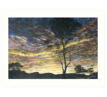 Painting for Bushfire Appeal - Lansdowne Sunrise Art Print