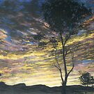 Painting for Bushfire Appeal - Lansdowne Sunrise by louisegreen