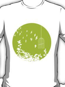 Flying Free 2  Green Large T-Shirt