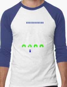 Space Invaders | Doctor Who Men's Baseball ¾ T-Shirt
