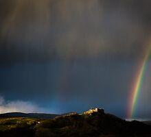 Carreg Cennen Castle & Rainbow by granthyatt