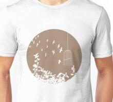 Flying Free 2 Mocha Large Unisex T-Shirt