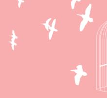 Flying Free 2 Pink Large Sticker