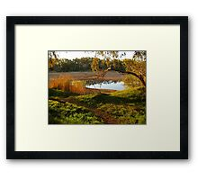 Sundown at Chinaman's Pool, Gascoyne River, Carnarvon, Western Australia Framed Print