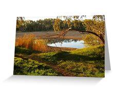 Sundown at Chinaman's Pool, Gascoyne River, Carnarvon, Western Australia Greeting Card