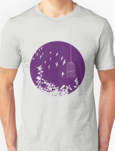 Flying Free 2 Purple Large Unisex T-Shirt