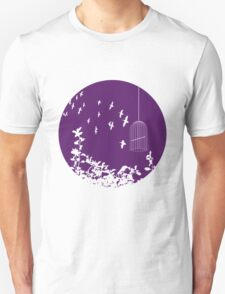 Flying Free 2 Purple Large T-Shirt