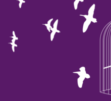 Flying Free 2 Purple Large Sticker