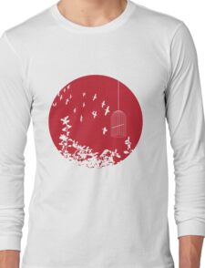 Flying Free 2 Red Large Long Sleeve T-Shirt