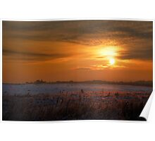 Unearthly sunset Poster