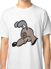 cartoon style dog in brown Classic T-Shirt