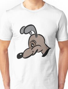 cartoon style dog in brown Unisex T-Shirt