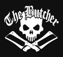 Butcher Skull and Cleavers White by sdesiata