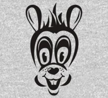 Funny cartoon rabbit silhouette One Piece - Short Sleeve