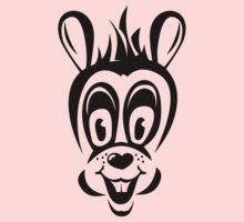 Funny cartoon rabbit silhouette Baby Tee