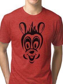 Funny cartoon rabbit silhouette Tri-blend T-Shirt