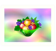 Apples & Violets Art Print