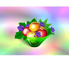 Apples & Violets Photographic Print