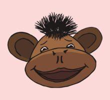 cartoon style monkey head Kids Tee