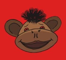 cartoon style monkey head Baby Tee