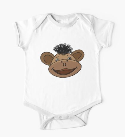 cartoon style monkey head One Piece - Short Sleeve
