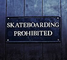 Skateboarding Prohibited by damokeen