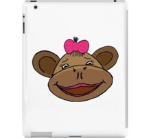 cartoon style monkey head iPad Case/Skin