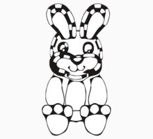 funny rabbit silhouette drawing Kids Clothes