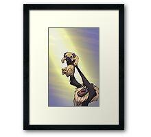 The Pug King Framed Print