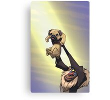 The Pug King Canvas Print
