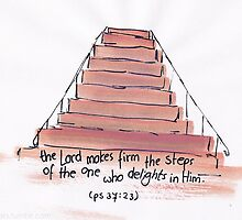 Psalm 37:23 -  the Lord makes firm your steps by countedhairs