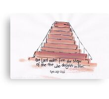 Psalm 37: The Lord makes firm your steps Canvas Print