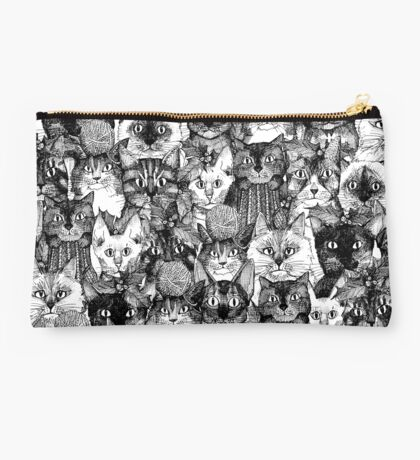 CHRISTMAS CATS black & white Studio Pouch