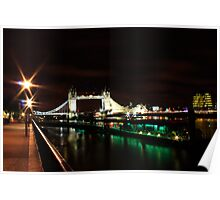 night out by the river thames Poster