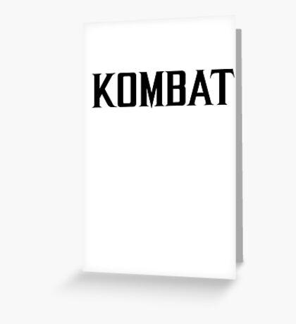 Mortal Kombat - KOMBAT X Greeting Card