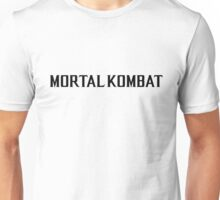 Mortal Kombat X TEXT Unisex T-Shirt