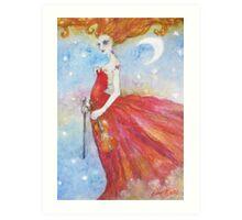 Sophie Serafino by British Artist Pearl Bates Art Print