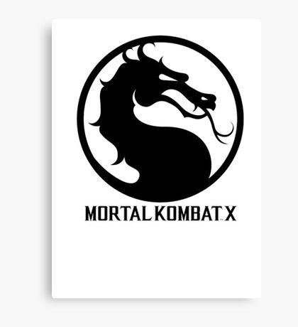 Mortal Kombat X LOGO Canvas Print