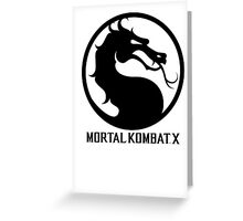 Mortal Kombat X LOGO Greeting Card