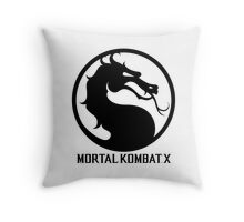 Mortal Kombat X LOGO Throw Pillow