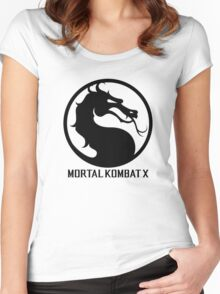 Mortal Kombat X LOGO Women's Fitted Scoop T-Shirt