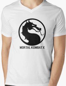 Mortal Kombat X LOGO Mens V-Neck T-Shirt