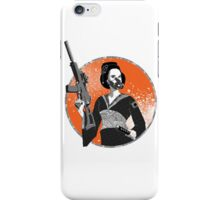 Geisha and Machine Gun iPhone Case/Skin