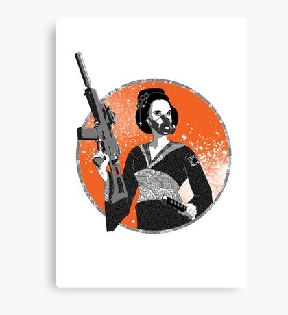 Geisha and Machine Gun Canvas Print