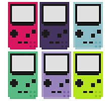 Gameboy colors Photographic Print